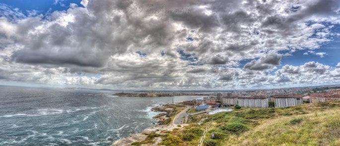 La Coruña desde el mirador de San Pedro