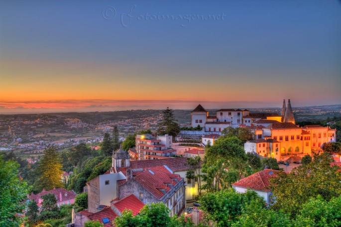 ¡Anochece en Sintra!